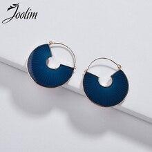 Joolim High Quality Blue Red Enamel Fanned Hoop Earring Design Earrings 2019 for Women