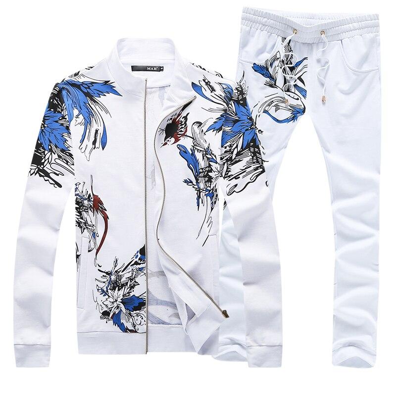 High quality Men's Sets Large size S 5XL Men Jackets & Drawstring Trousers