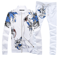 High quality Men's Sets Large size S 5XL Men Jackets & Drawstring Trousers