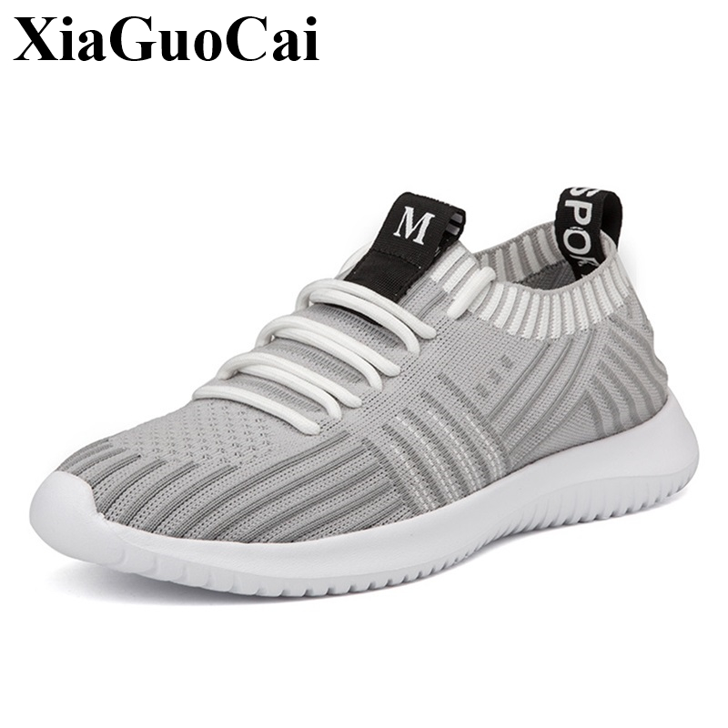 New Casual Shoes Men Sneakers Spring Summer Breathable Mesh Lace-up Leisure Shoes Hard-w ...