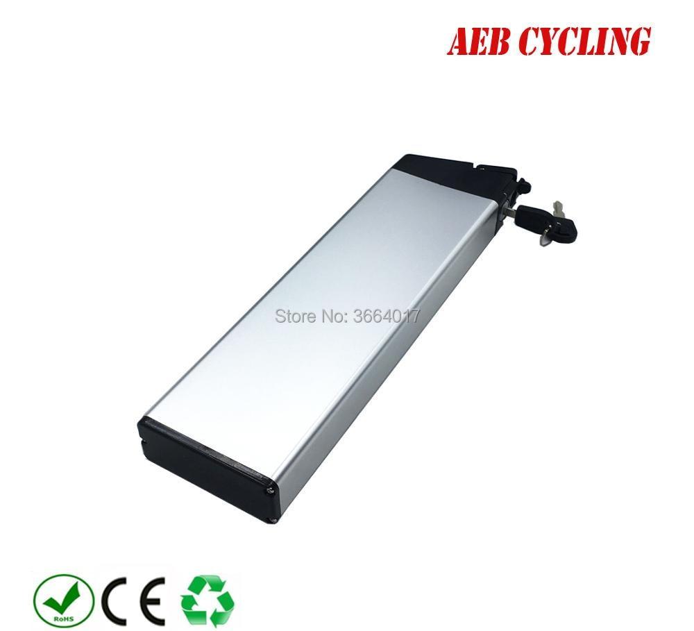 Ue US livraison gratuite et taxes 48 V 10.5Ah 18650 Lithium ion batterie boîtier en argent avec chargeur pour vélo pliant