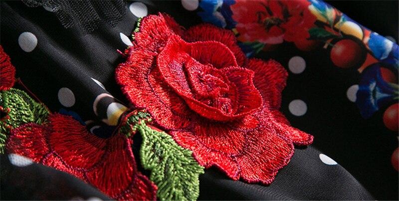 Floral Longue Nouvelle Vintage Manches Mode Femmes As Piste Sans Casual De Robe Pics Robes Soie 2018 w7WTqan