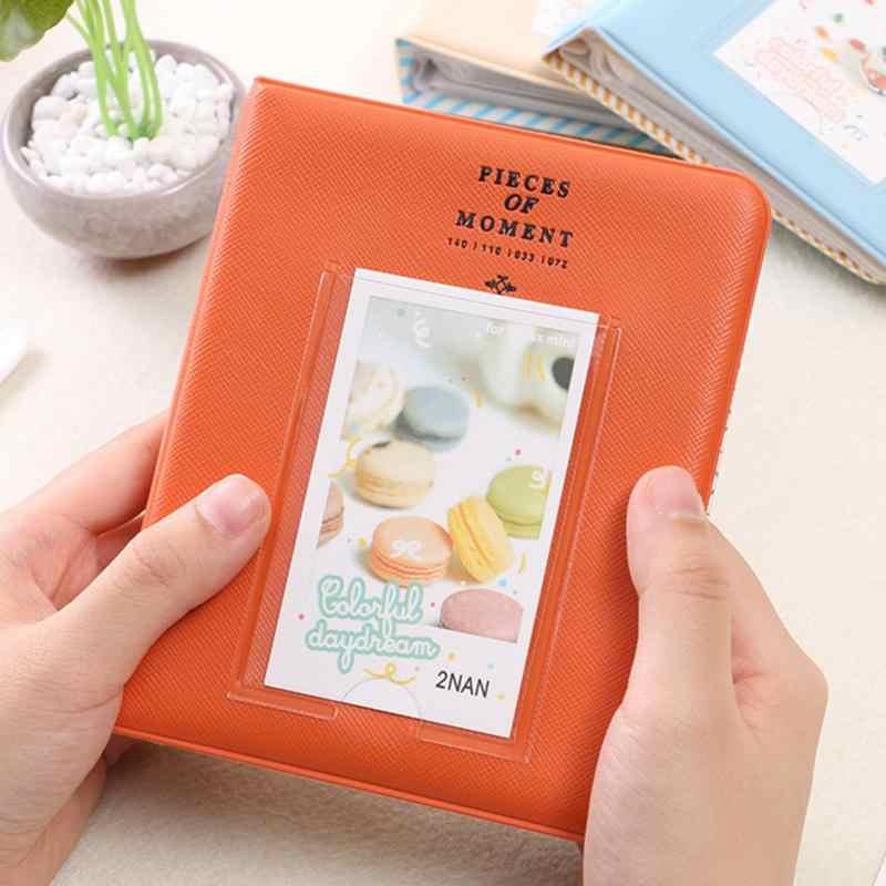 Polaroid Photo Album 64 Pockets Mini Instant Picture Case Storage For Fujifilm Instax Mini Film 8 Korea Instax Album Fotografia