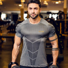 2018 New Quick Dry Rashgard Men Compression Tennis Jersey Tight Fitness Vest Gym Training Running Short T-Shirt Men's Sportswear цена и фото