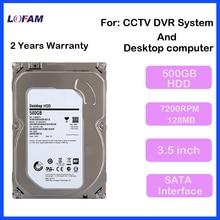LOFAM Video Surveillance SATA HDD 3.5 inch 500GB Hard Disk Drive For CCTV Camera AHD DVR NVR recording and PC Desktop Computer(China (Mainland))