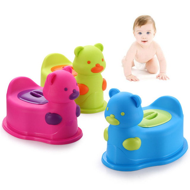 Blue Green Red Potty Chair Cute Bear Multifunctional Baby Potty Kids Toilet Chair With Wheel Portable Potty Baby Jordan Toy Car