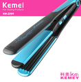KM-2209 Flat Straightening Corrugated Curling Styling Tools 90W 2 in 1 Curling Iron Dry wet Hair Straightener Hair Curler