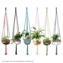 90 cm Pot Gantung Tali Katun Tali Warna-warni Tanaman Pot Bunga Gantung  Keranjang Pemegang Gantungan Rumah Vertikal Taman Balkon. fde0a5125e