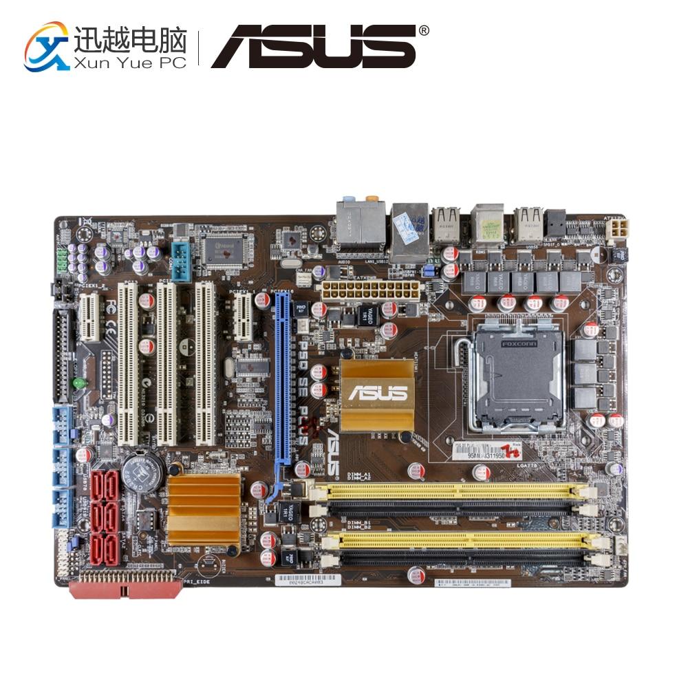 Asus P5Q SE PLUS Desktop Motherboard P45 Socket LGA 775 DDR2 16G SATA2 USB2.0 ATX asus p5k se epu original used desktop motherboard p35 socket lga 775 ddr2 8g sata2 usb2 0 atx