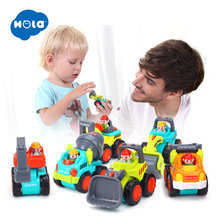 1PC Pull Back Car Toys Car Children Kids Racing Car Mini Cars Cartoon Pull Back Bus Truck Toys For Children Boy Gifts(China)