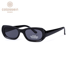 COLOSSEIN Sunglasses Men Fashion Vintage Black Brown Blue Fr