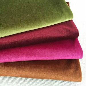 ESSIE HOME 280 см Шелковая бархатная ткань велюровая ткань Pleuche скатерть покрытие для стола обивка занавеска ткань красный синий коричневый зеленый