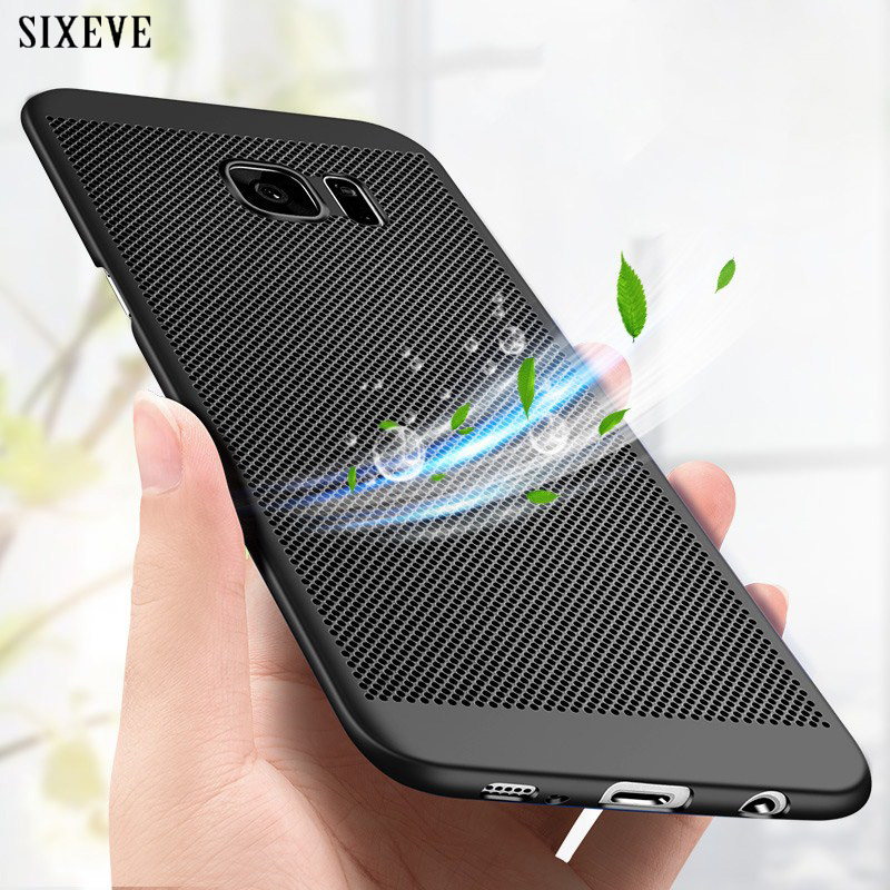 US $1 89 21% OFF|SIXEVE Hard Mesh Case For Samsung Galaxy J4 J6 J8 A8 A6  2018 S8 S9 Plus S5neo S6 S7 Edge A3 A5 A7 2017 2016 Note 4 5 8 9 Cover-in