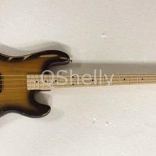 Высокое качество QShelly на заказ relic 4 струны старый использованный винтажный выцветший электрический бас гитара пепельный корпус p Бас Музыкальные инструменты магазин