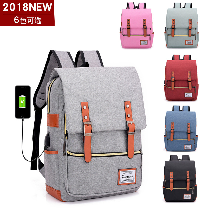 d7946cdac55a New Men s Backpack Usb Charging Port Smart Backpack For Women Male Laptop  Bag College Wind Waterproof Student Bag-in Backpacks from Luggage   Bags on  ...