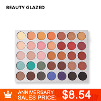 BEAUTY GLAZED Brand Eyes Make Up Eye Shadow 35 Color 1 Set Luminous Shimmer Matte Makeup