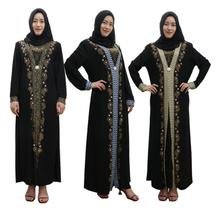 Women Fashion Arab Ladies Kaftan Dubai Muslim Dress Islamic Clothing Maxi Robes