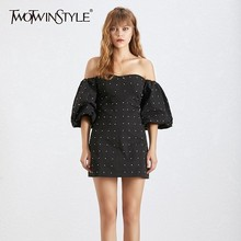 TWOTWINSTYLE Patchwork Dresses Party