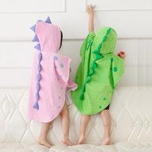 cb3b18ca3a3d Infantile Del Bambino Asciugamani Con Cappuccio Della Ragazza del Ragazzo  Del Fumetto Del Dinosauro Poncho Con