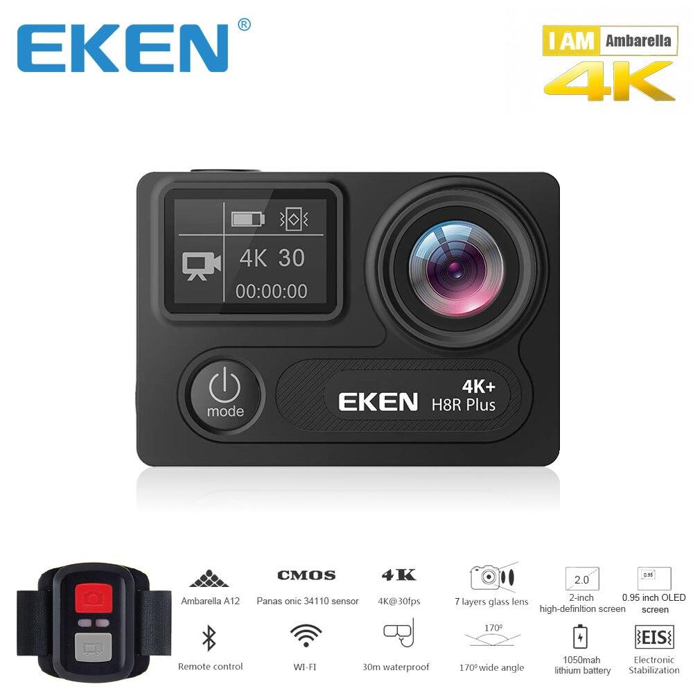 D'origine EKEN H8R PLUS Ultra HD Camera Action avec 4 k 30FPS Résolution et 30 m waterporoof 2.0 Écran cam go sport Caméra pro