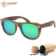 2017 Trendy Classic Polarized Sunglasses Wood Frame Handmade Driving Sun Glasses For Men Women Glasses W014