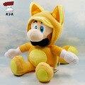 Super Mario Bros Plush Toys 10'' 25cm Fox Luigi Soft Stuffed Plush Doll Baby Toy Animal Cartoon Gift Kitsune Tanooki Mario
