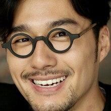 Винтажные маленькие круглые очки 38 мм Джон Леннон Джони Депп, японские деревянные оправы для очков ручной работы, очки для близорукости, очки высокого качества