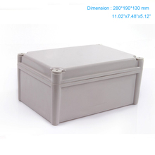 2015 Newest  ip66 ABS waterproof plastic project box /distribution box /terminal enclosure  280*190*130mm 250 150 130mm ip67 waterproof plastic electronic project box w fix hanger plastic waterproof enclosure box housing meter box