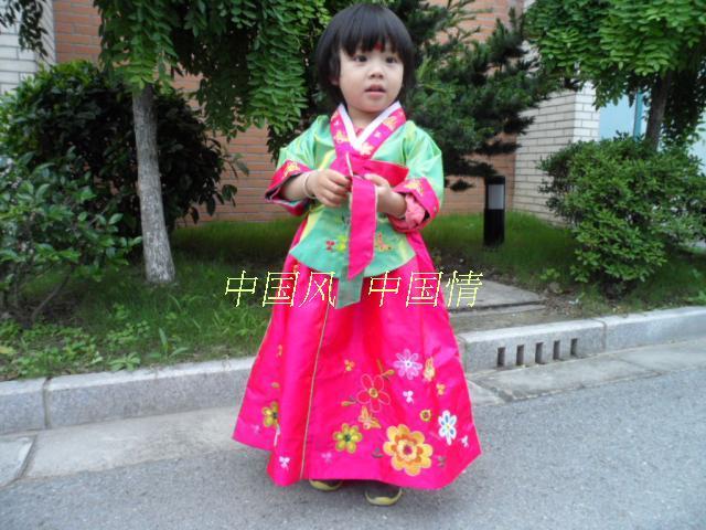 Trušu meiteņu hanbok bērnu apģērbu kleita pavasara un rudens - Bērnu apģērbi - Foto 6