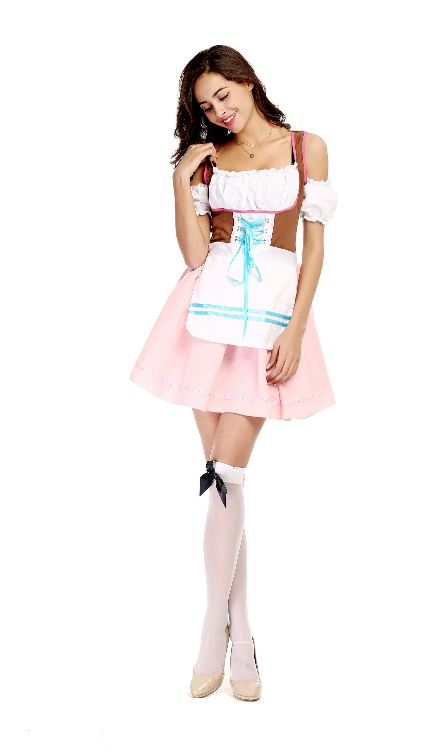 Sexy Women Maid Costume Oktoberfest Beer Costume German Beer Girl Cosplay Halloween Fancy Party Dress Costume