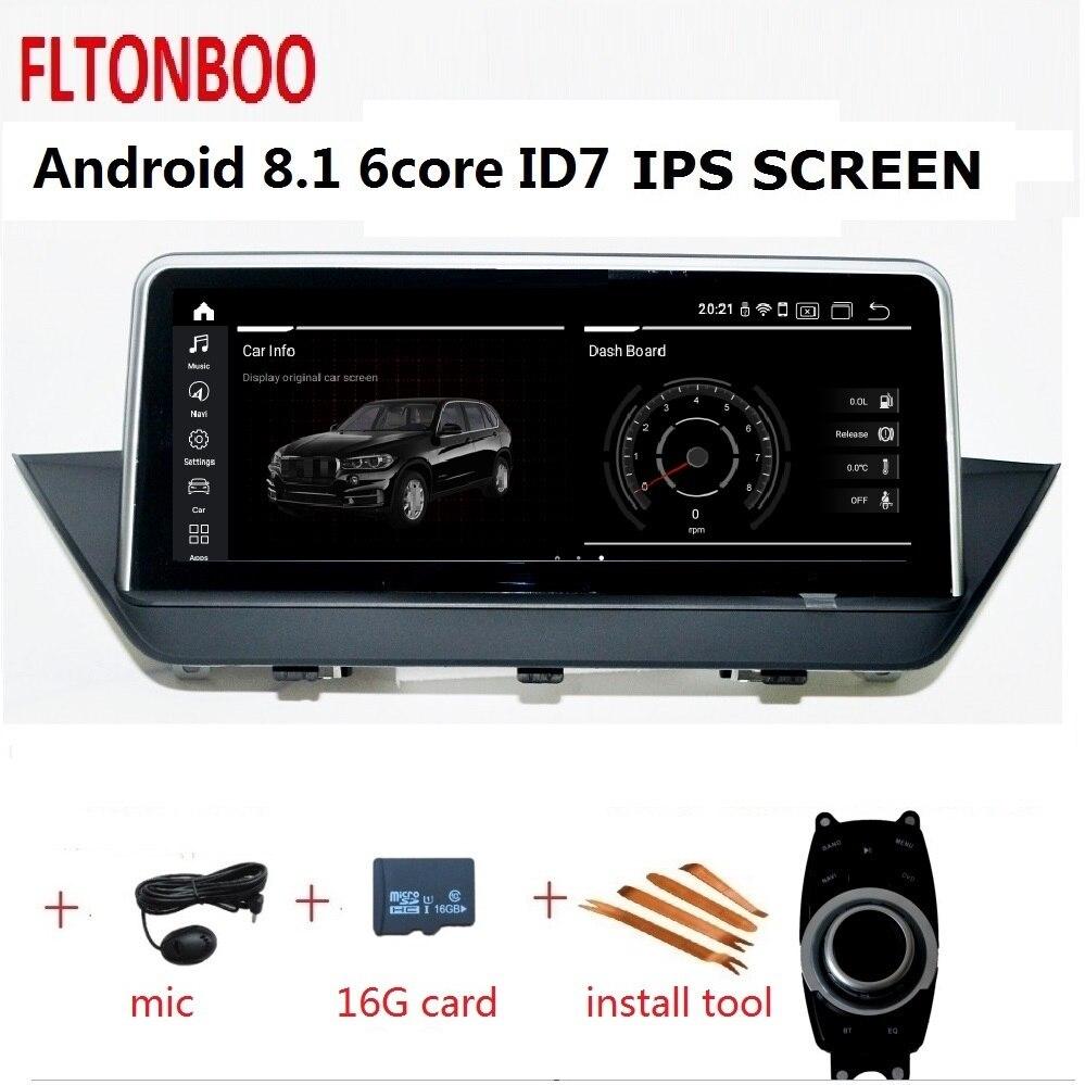 10.25 ''Android 8.1 Do Gps Do Carro jogador de rádio navegação ID7 para BMW X1 E84 6 núcleo bluetooth wi-fi 2 GB RAM GB ROM 32