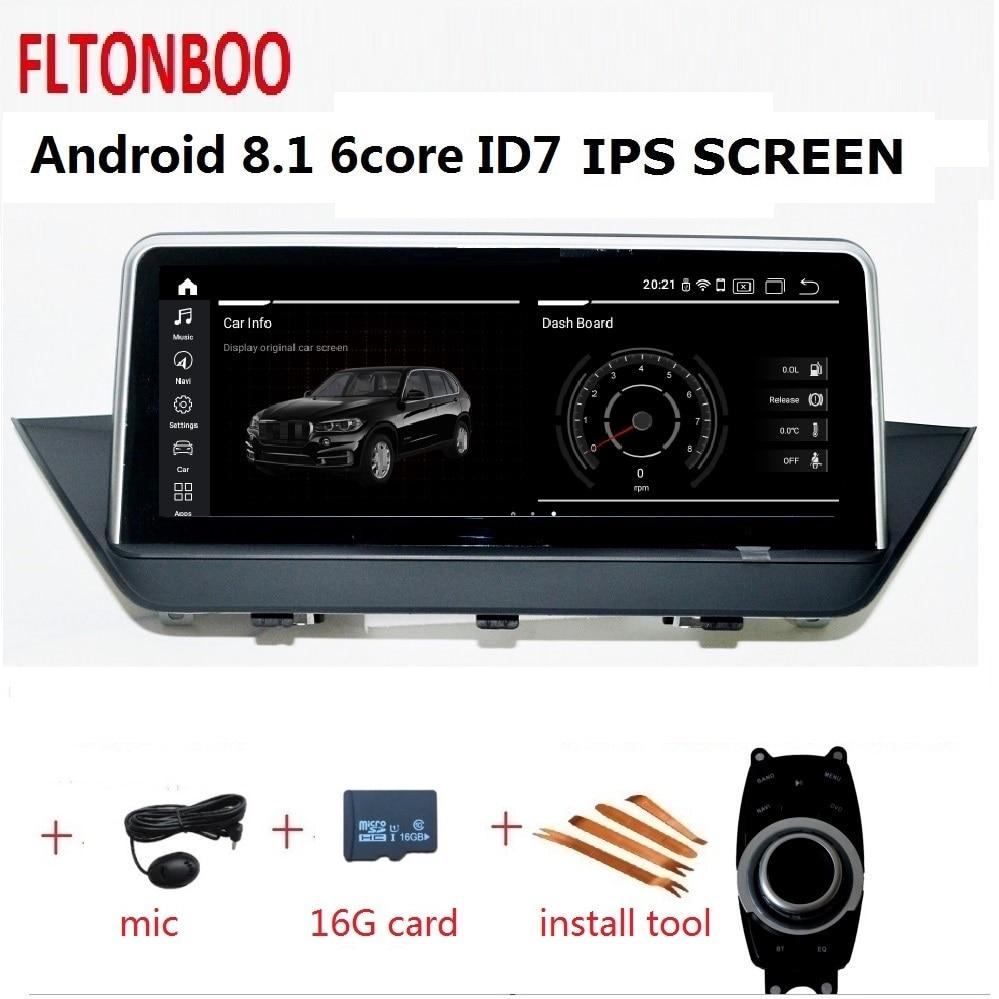 10.25 Android 8.1 Voiture Gps lecteur radio navigation ID7 pour BMW X1 E84 6 core wifi bluetooth 2 GO RAM 32 GO de ROM