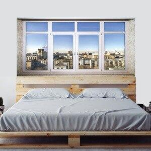 Image 5 - Stadt stadt Sinn Bett Kopf Aufkleber Gefälschte Weiß Glas Fenster Wand Aufkleber Kreative Kunst Wand Aufkleber Kunst Wand Aufkleber Hause decor