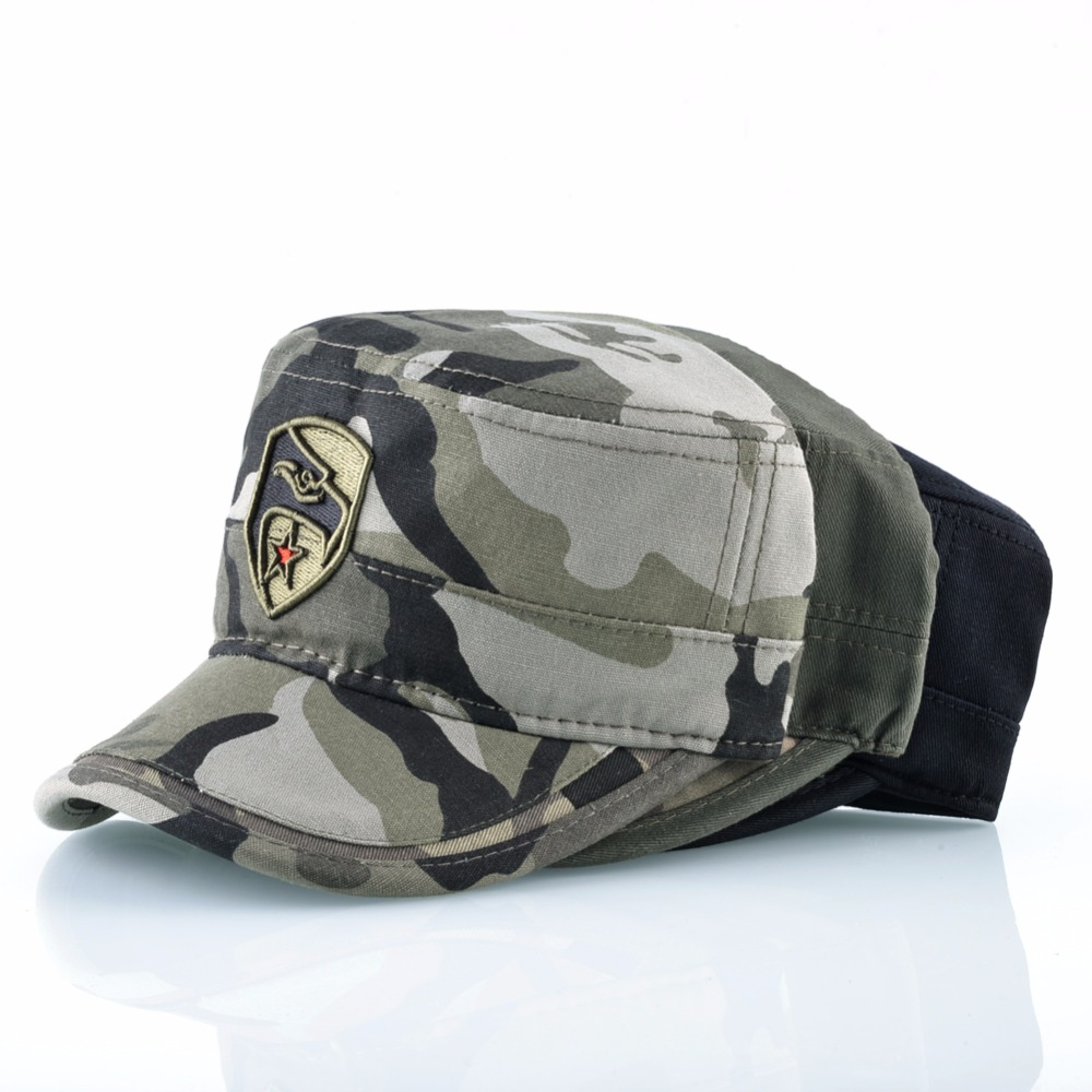 1b638fc24 Details about Camouflage Flat Hats Men Breathable Tactical Snapback Caps  EAGLE Embroidery Army