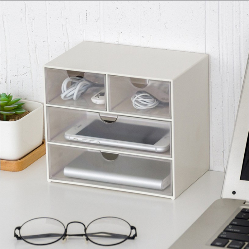 Scandinavian Plastic Storage Drawer Multi-layer Home Storage Drawer Box Organizer Sundries Cosmetics Container Home Office drawer