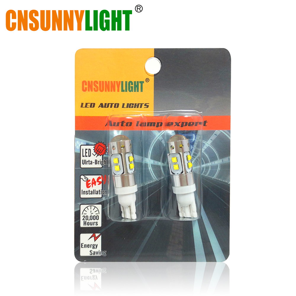 CNSUNNYLIGHT T10 LED 194 920 912 921 Super Bright Bulbs Car Front Side Marker/Parking/Back-up/Turn/Reverse/Brake Signal <font><b>Lights</b></font>