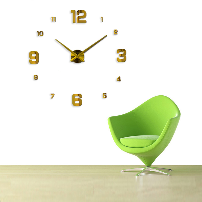 Freeshipping 2019 Nueva decoración del hogar espejo grande reloj de - Decoración del hogar - foto 6