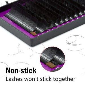 Image 3 - Nagaraku 10 casos bcd 16 linhas/bandeja elipse cílios maquiagem mix 8 15 15mm vison liso cílios vison falso brilhante macio natural