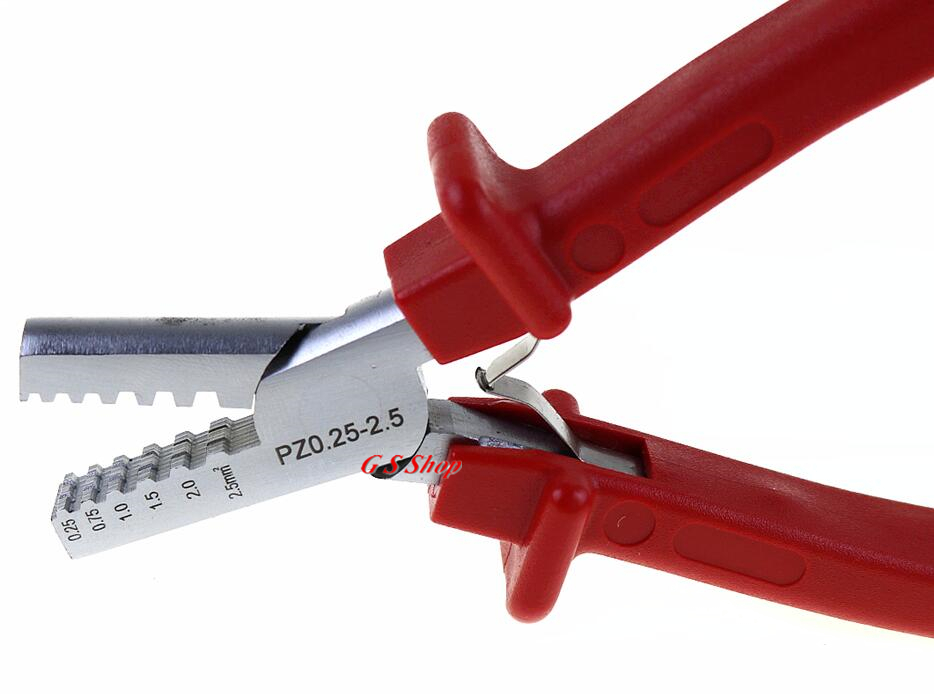 PZ0.25-2.5 Crimping Plier German Style Terminal Clamp Small For Cable End Sleeve