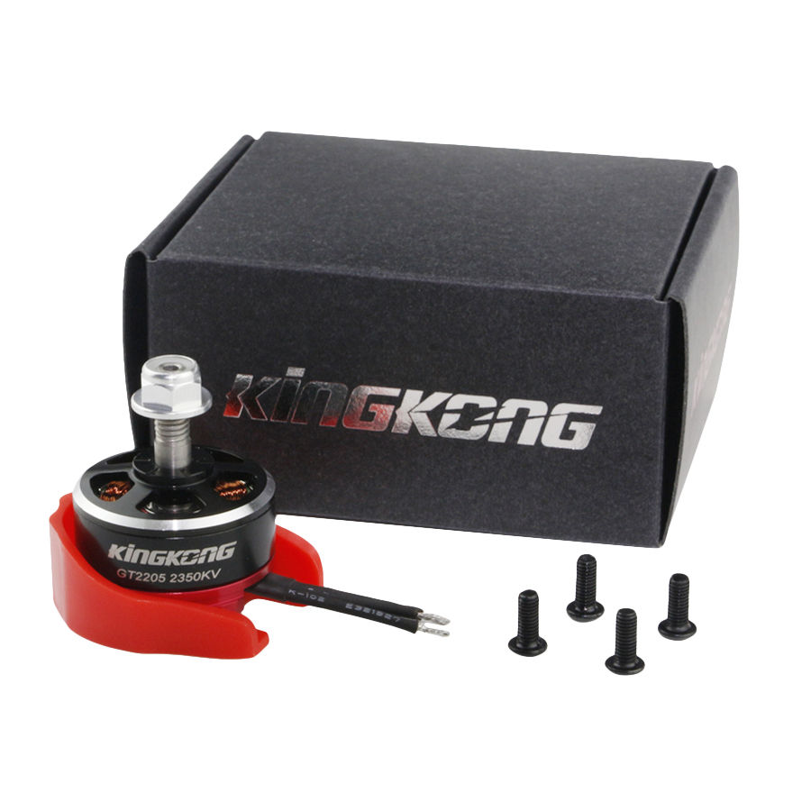 Kingkong 2205 GT2205 2350KV 2-4S CW / CCW Brushless with Motor Protector FPV RC Racer Drone lhi fpv 4x mt2206 2300kv cw ccw fpv brushless motor 2 4s 4 pcs racerstar rs20a lite 20a blheli s bb1 2 4s brushless esc