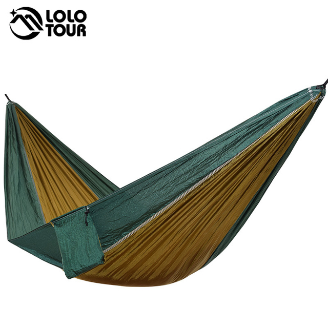 Ultralight 1 Person Hammock Portable Single Outdoor Camping Hamak Hiking Climbing Durable Hamac Can Hold 200kg 230*90cm