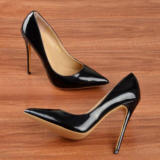 2017 high quality Pointed Toe sexy High Heels Shoes Women Pumps 12CM Women Shoes wedding shoes sapato feminino