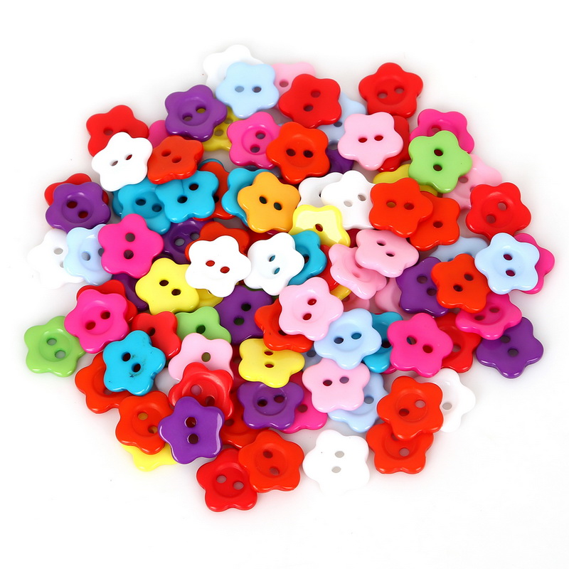 50pcs <font><b>10mm</b></font> 12mm Mixed Color Flower Plastic <font><b>Button</b></font> Baby Sewing <font><b>Button</b></font> Decoration/Sewing/Craft/Scrapbook Accessories Wholesale image