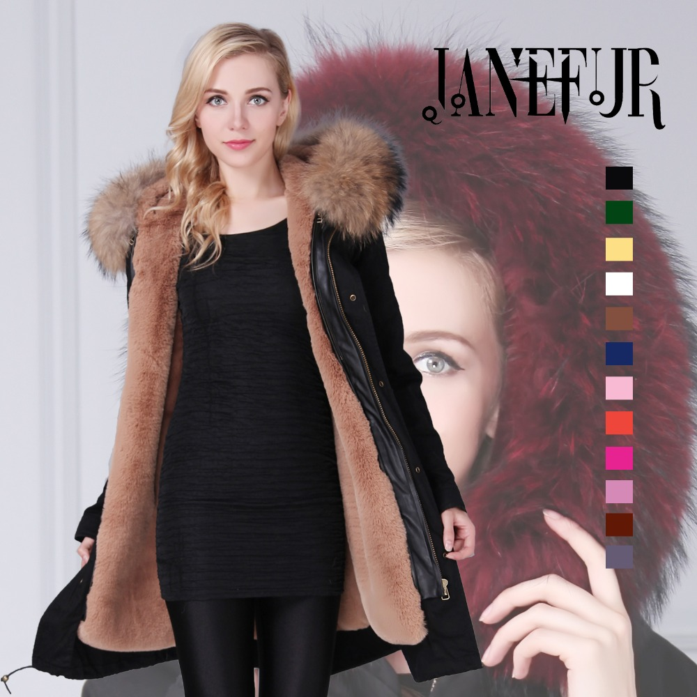 Hot Sale Brand Winter New Women Black Shell Parka Jacket Coats Thick Real Raccoon Fur Collar Hooded Fur Lining Long Version in 12 ah 856085 2 3 7v large capacity lithium polymer battery charger for mobile charging treasure li ion cell
