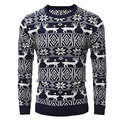 2017 high quality  New Designers High Quality Brands New Winter Men's O-Neck  Sweaters Jumpers Pullovers Sweater Man