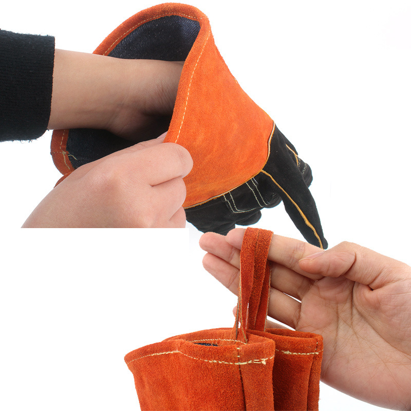 Image 4 - BBQ Gloves Camping Fire Barbecue Leather High Temperature Protective Gloves For Camping Picnic Barbecue Equipment-in Outdoor Tools from Sports & Entertainment