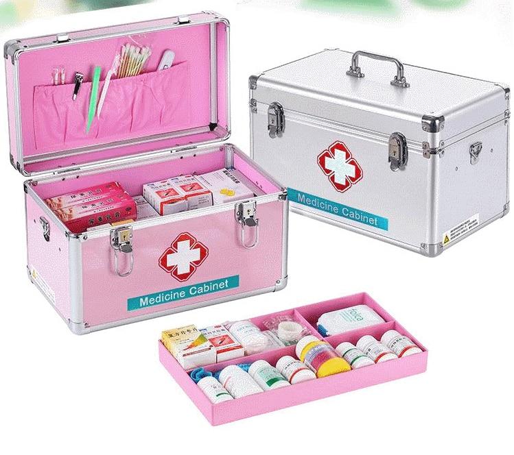 10 Inch-16 Inch Aluminum Home Medical Kit Multi-storey Hospital Use First Aid Kit Medical Case Portable Drug Storage Box