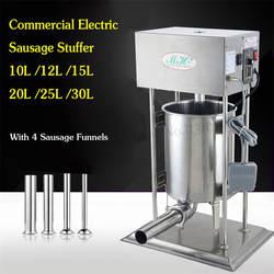 Электрический 10L колбаса писака коммерческих салями розлива автоматический нержавеющая сталь аппарат для приготовления испанских