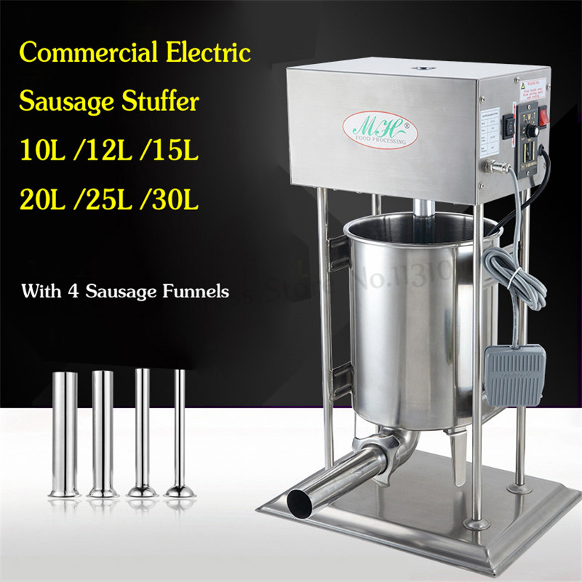 Electric 10L Sausage Stuffer Commercial Salami Filling Machines Automatic Stainless Steel Spanish Churros Machine Restaurants
