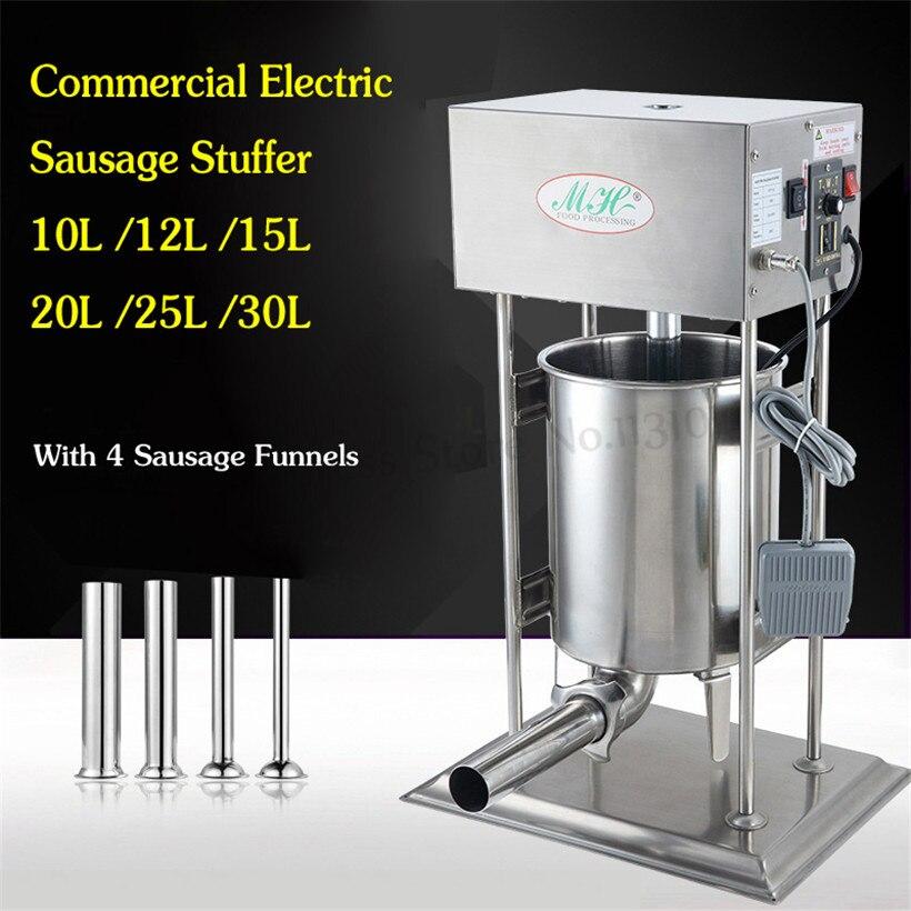 Remplisseuses commerciales de Salami de bourreur de saucisse électrique 10L Restaurants automatiques de Machine de Churros d'acier inoxydable
